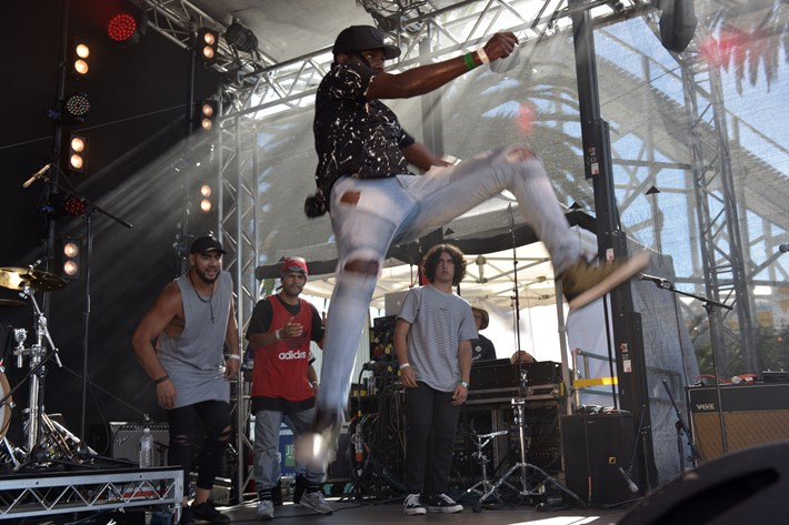 Musician 'Baker Boy' leaps in the air